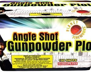 Angle Shot Gunpowder Plot - 100shot 'Fan' Cake (Fires in rows of 10)-447
